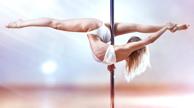 Pole dance - Ćwiczenia na rurze