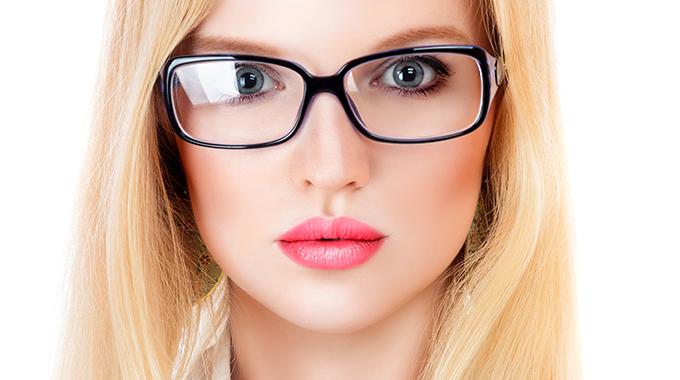 makijaż pod okulary