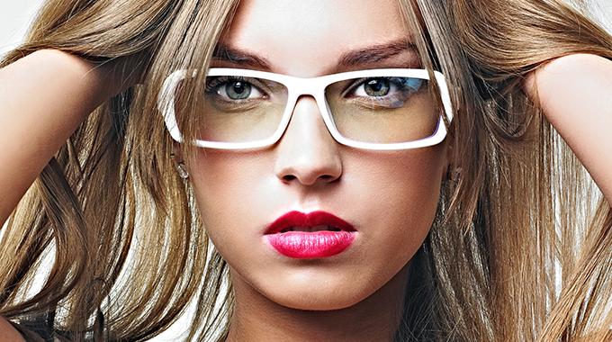 makijaż dla okularnicy