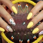 azteckie wzory na paznokciach
